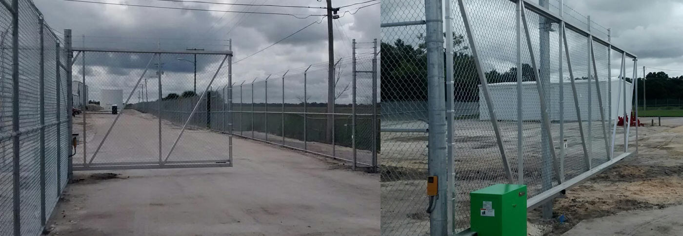 10' + 1' Chain Link & Custom Gates – High Security Facility