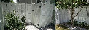 Semi-Private PVC Fence