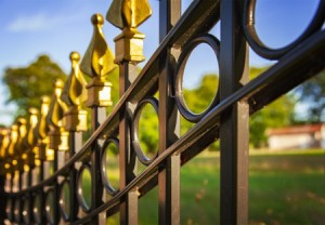 46733607 - image of a decorative cast iron fence.