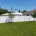 Backyard Secured with PVC Privacy