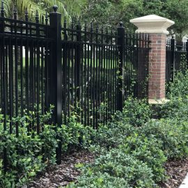 UT ALUM FENCE WITH COLUMNS